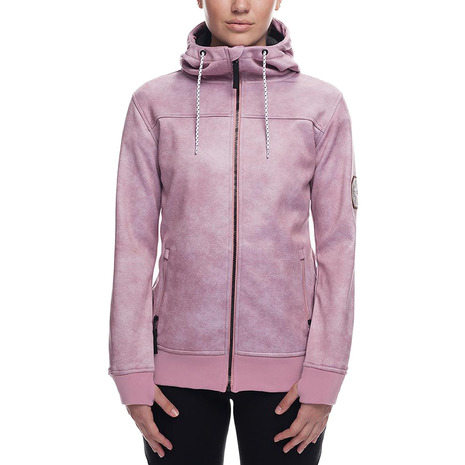686 Ella Bonded Zip HD L8WCST07 Blush Wash (Lady's)