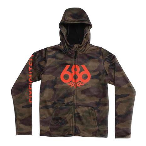 686 Bonded Zip Hoody L8WCST08 Dark Camo (Jr)