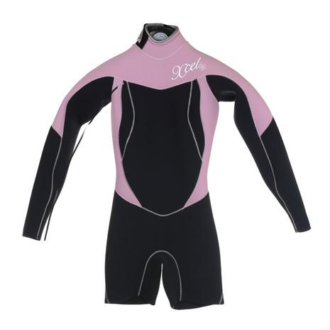 XCEL 【お買い得品!】BACKZIP 2/2 LS SPRING AF268101 1PNK ウェットスーツ (Lady's)