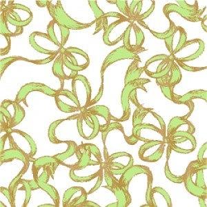 ヴィクトリアデザインは転写紙や白磁の専門店です ポーセラーツ 転写紙 模様 着後レビューで 送料無料 RIBBONS リボン green ピスタチオグリーン 公式