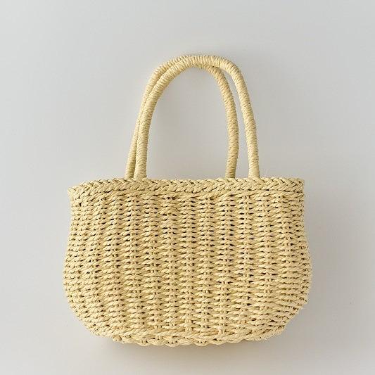 ヴィクトリアデザインはギフト用の食器やテーブルウェア 雑貨の専門店です 在庫限り ハンドメイド 大決算セール 手芸 鞄 材料 ストローバスケット ベージュ