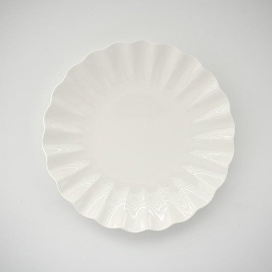 ヴィクトリアデザインは転写紙や白磁の専門店です ポーセラーツ 白磁 食器 ギフ_包装 皿 プレート 白い食器 新色 無地 フィオーラ21cmプレート