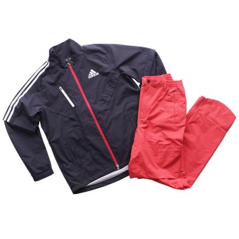 アディダス(adidas) ゴルフウェア レインウェア レインスーツ 上下セット CCM41-N67730 NV/RD (メンズ) 《B》 (Men's)