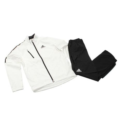 【2月1日限定!カード決済でポイント19倍!】アディダス(adidas) ゴルフウェア レインウェア レインスーツ 上下セット CCM41-N67731 W/BK (メンズ) 《B》 付属品:B (Men's)