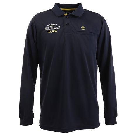 マンシングウエア(MUNSING WEAR) ポロシャツ メンズ SUNSCREEN 襟裏レジメンタル長袖シャツ MGMPJB08-NV00 (Men's)