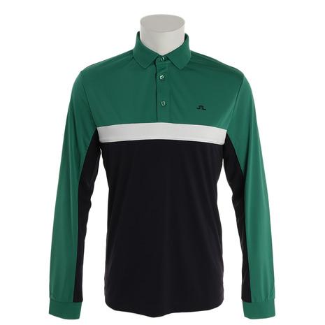 Jリンドバーグ(J.LINDEBERG) Ethan Slim Fit-TX Jersey 長袖ポロシャツ 071-21910-023 (Men's)