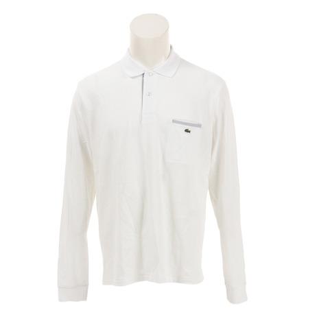 ラコステ(LACOSTE) ゴルフウェア メンズ  ポイントストライプ 長袖ポロシャツ PH0118L-J72 (Men's)