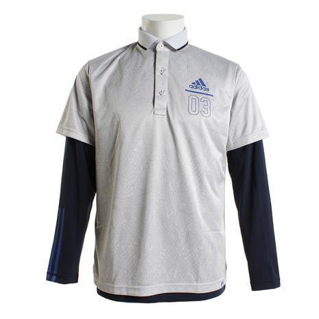 アディダス(adidas) シティパターン レイヤード ポロシャツ CCO38-M73663-18SS (Men's)