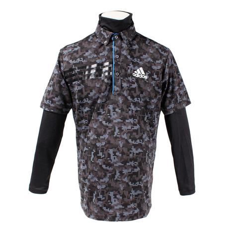 アディダス(adidas) ジオメトリック レイヤードB.D.シャツ CCS43-U31002-ブラック-18FW (Men's)