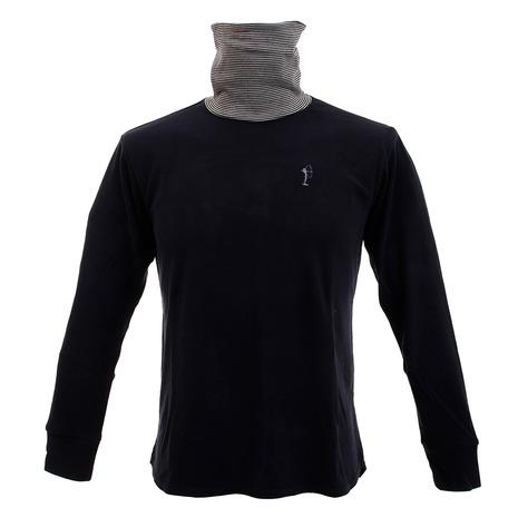 【pt_r200124】 【買いまわりでポイント最大10倍!】フィドラ(FIDRA) プレミアムタートルネックシャツ FV38VB03 NVY (Men's)