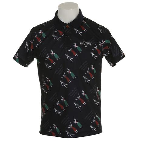 キャロウェイ(CALLAWAY) 18M フラガールプリント鹿の子ポロシャツ 241-8151503-120メンズ 半袖 (Men's)