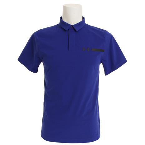 アンダーアーマー(UNDER ARMOUR) パーペチュアルウーブンポロシャツ #1306301 FMB/BLK/BLK GOメンズ 半袖 (Men's)