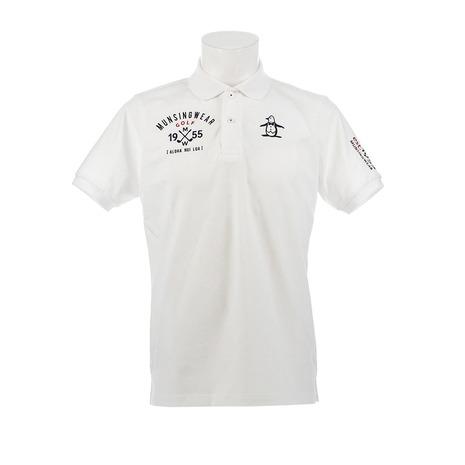 マンシングウエア(MUNSING WEAR) ゴルフウェア メンズ 胸ロゴサンスクリーン半袖シャツ MGMNJA12-WH00 (Men's)