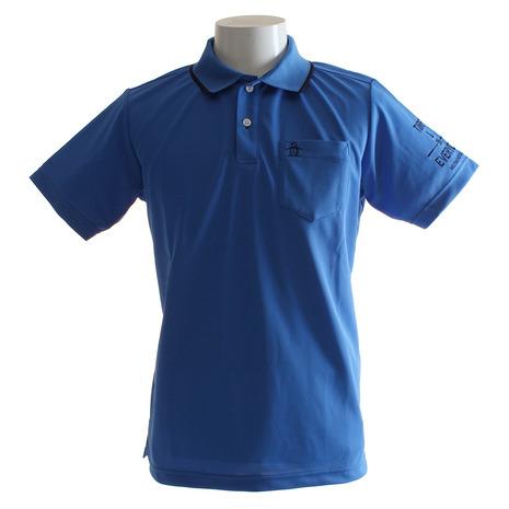 マンシングウエア(MUNSING WEAR) サンスクリーン 鹿の子 半袖ポロシャツ MGMLJA34-BL00 (Men's)