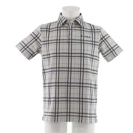 フィドラ(FIDRA) チェック 半袖ポロシャツ FDA0315-WHT (Men's)