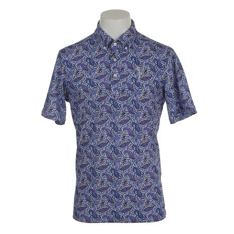 フィドラ(FIDRA) ボタニカルポロシャツ FV57LG08 NVY (Men's)