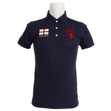 アドミラル(Admiral) ゴルフウェア メンズ フラッグ ポロシャツ ADMA833-NVYメンズ 半袖 (Men's)