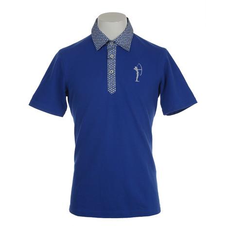 フィドラ(FIDRA) 半袖花柄ポロシャツ FV57LG09 BLU (Men's)