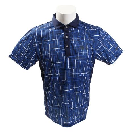 ホンマゴルフ(HONMA) ランダムラインプリントシャツ 831-419108 BLメンズ 半袖 (Men's)