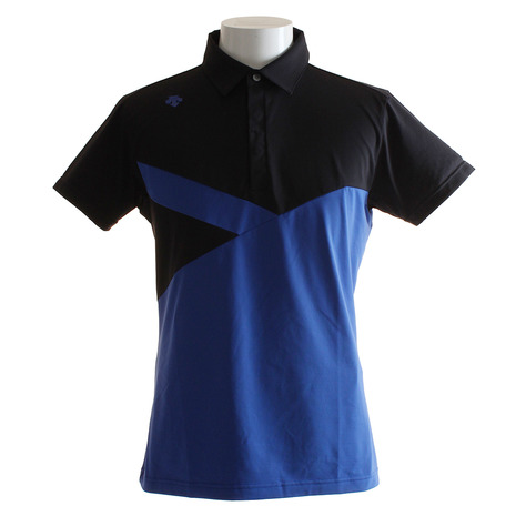 デサントゴルフ(DESCENTEGOLF) アシンメトリーデザイン 半袖Tシャツ DGMLJA09-BL00 (Men's)