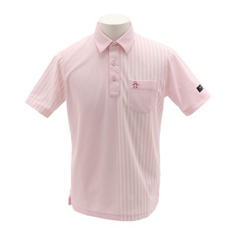 マンシングウエア(MUNSING WEAR) ゴルフウェア メンズ ストライプ柄クーリスト半袖シャツ MGMNJA26-PK00 (Men's)