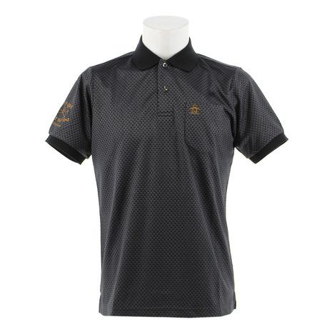 マンシングウエア(MUNSING WEAR) ゴルフウェア メンズ ジャカードエンボス半袖シャツ MGMNJA08-BK00 (Men's)