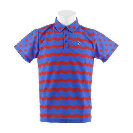 クランク(CLUNK) WAVEボーダーポロシャツ MC8S-NBD BLUOR (Men's)