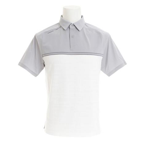 アンダーアーマー(UNDER ARMOUR) スレッドボーン キャリブレートポロシャツ #1317330 OVC/WHT/RGY GOメンズ 半袖 (Men's)