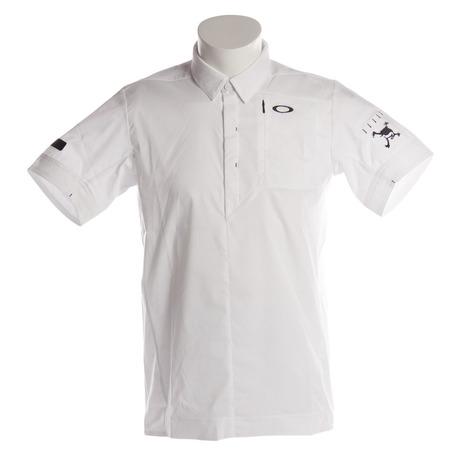オークリー(OAKLEY) SKULL SPREAD WOV 半袖ポロシャツ 401896JP-100 (Men's)
