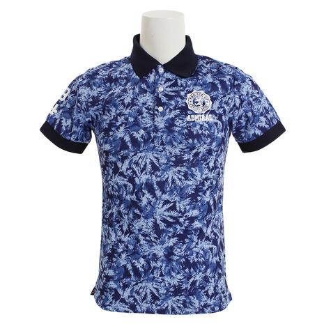 アドミラル(Admiral) 迷彩ヤシの木 ポロシャツ ADMA851-NVYメンズ 半袖 (Men's)
