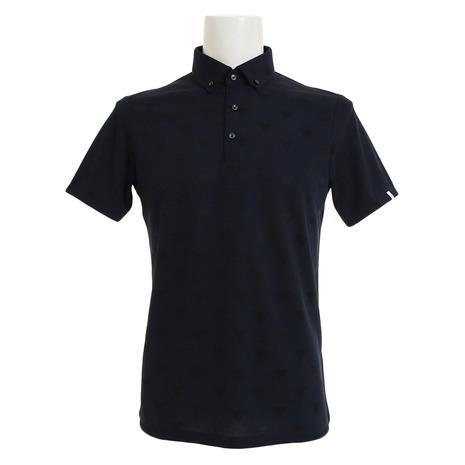 テーラーメイド(TAYLORMADE) (Men's) ゴルフウェア LOB86-U24294 ボタンダウン オールオーバー オールオーバー トライアングル 半袖ポロシャツ LOB86-U24294 (Men's), 窓shop マルフ:9ac51b8d --- sunward.msk.ru