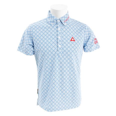 ルコック スポルティフ(Lecoq Sportif) クーリストサーフレコードパターンポロシャツ QGMNJA29-BL00 (Men's)