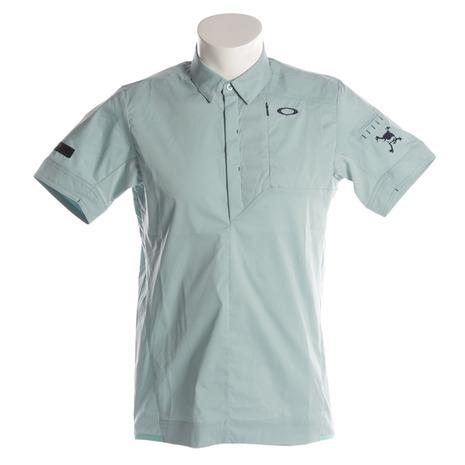 オークリー(OAKLEY) SKULL SPREAD WOV 半袖ポロシャツ 401896JP-69W (Men's)