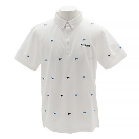 タイトリスト(TITLEIST) ゴルフウェア (Men's) TSMC1902WT メンズ フラッグ刺繍カノコシャツ TSMC1902WT (Men's), イズミックワールド:035f69b2 --- sunward.msk.ru