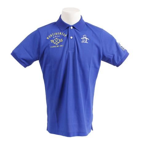 マンシングウエア(MUNSING WEAR) ゴルフウェア メンズ ロゴデュアルコンフォート半袖シャツ MGMNJA12-BL00 (Men's)