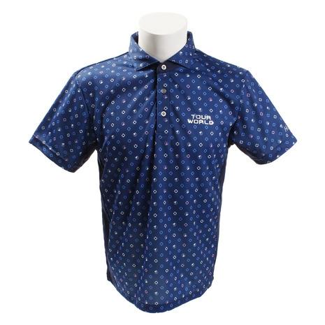 ホンマゴルフ(HONMA) コモンモグラプリントシャツ 831-419104 BLメンズ 半袖 (Men's)