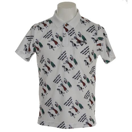 キャロウェイ(CALLAWAY) 18M フラガールプリント鹿の子ポロシャツ 241-8151503-031 (Men's)