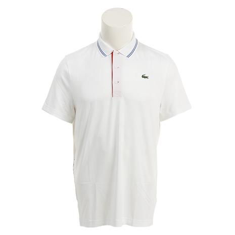 ラコステ(LACOSTE) ゴルフウェア メンズ レタリング ストレッチテクニカルジャージー ゴルフ ポロシャツ DH3360L-BNQ (Men's)