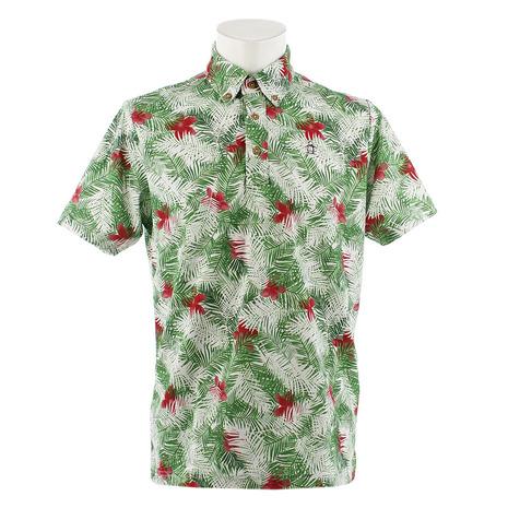マンシングウエア(MUNSING WEAR) ゴルフウェア メンズ ボタニカルプリント半袖シャツ MGMNJA03-GR00 (Men's)