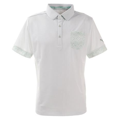 店内全品ポイント+10倍以上!23~25日エントリー要プーマ(PUMA) ポロシャツ メンズ ゴルフ トライバルポケットポロシャツ 半袖 930036-04 (Men's)