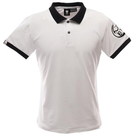 【ポイント最大24倍!0のつく日限定!エントリー要】デサントゴルフ(DESCENTEGOLF) ゴルフ ポロシャツ メンズ 万美コレクション ショートスリーブシャツ DGMPJA15-WH00 (Men's)