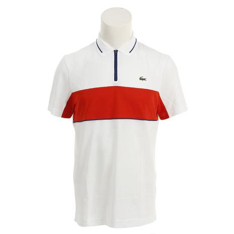 ラコステ(LACOSTE) スポーツコントラスト バンドテクニカルピケ ゴルフ ポロシャツ DH9450L-BNR (Men's)