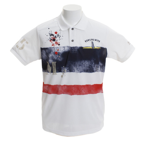 マンシングウエア(MUNSING WEAR) MGMNJA13-WHNV ゴルフウェア ゴルフウェア メンズ ペンギンボーダーサンスクリーン半袖シャツ メンズ MGMNJA13-WHNV (Men's), ノダムラ:8158f04a --- sunward.msk.ru
