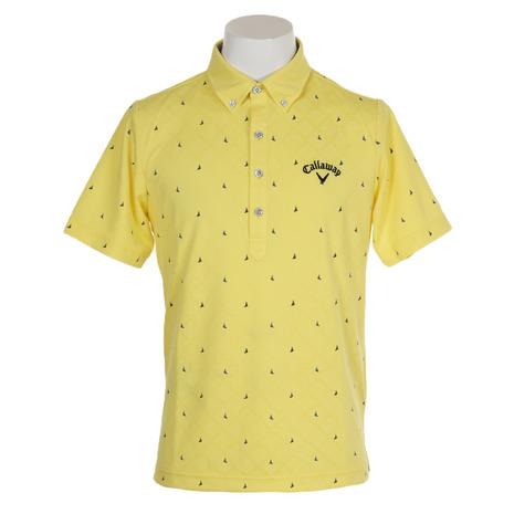 キャロウェイ(CALLAWAY) ロープ柄ジャカードボタンダウン半袖カラーシャツ 241-9157520-062 (Men's)