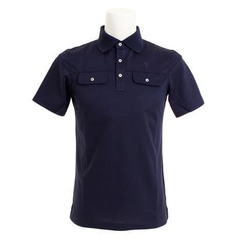 フィドラ(FIDRA) ゴルフ ポロシャツ メンズ TC半袖ポロシャツ FV51TG03NVY (Men's)