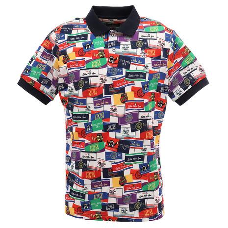 マンシングウエア(MUNSING WEAR) ラベルモチーフ総柄プリントシャツ MGMPJA19-WHML (Men's)