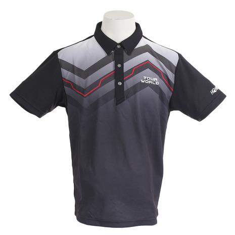 ホンマゴルフ(HONMA) シンメトリープリントシャツ 731-419102 BK (Men's)
