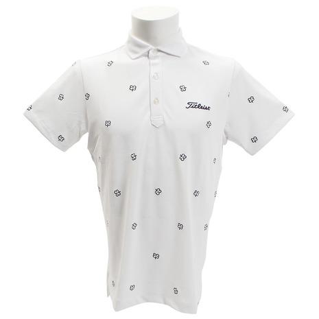 タイトリスト(TITLEIST) クローバー刺繍 鹿の子シャツ TSMC1824WN (Men's)
