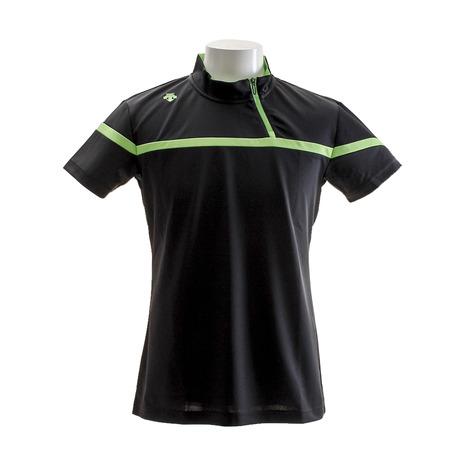 デサントゴルフ(DESCENTEGOLF) アシンメトリー ジップデザイン 半袖シャツ DGMLJA29-BK00 (Men's)