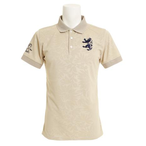 アドミラル(Admiral) ゴルフウェア ゴルフウェア ADMA951-BEG メンズ フラワーエンボス エリメッシュ 半袖ポロシャツ 半袖ポロシャツ ADMA951-BEG (Men's), バイクパーツのBig-One:fa01bbea --- sunward.msk.ru